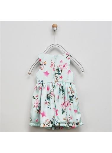 Panço Kız Çocuk Elbise 2011GK26056 Yeşil